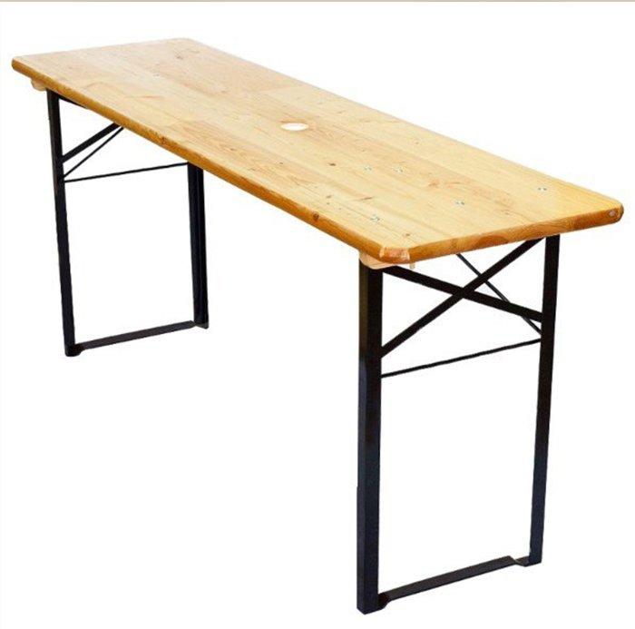 Houten tafel huren bij rba verhuur son en breugel - Table pliante pour studio ...