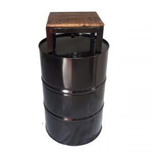 zuil-oliedrum-hout-bruin